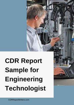 Cdr Sample Engineering Technologist