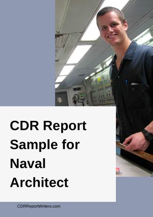 Cdr Sample Naval Architect