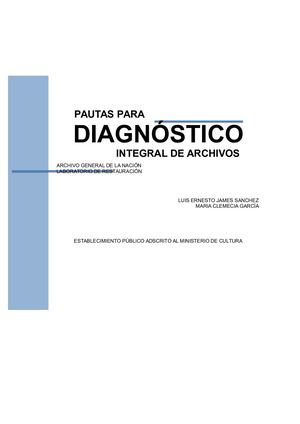 Diagnostico Integral De Archivo