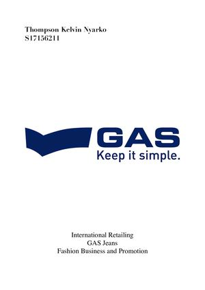 International Retailing - GAS Jeans