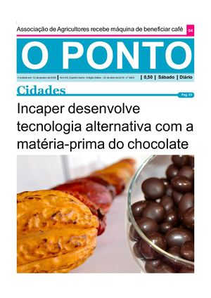 O PONTO 20 04 - Incaper Desenvolve Tecnologia Alternativa Com A Matéria Prima Do Chocolate
