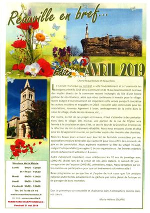 Bulletin Municipal Avril 2019