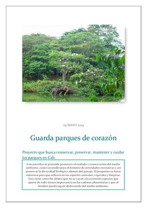 Guarda Parques De Corazon