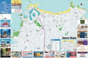 saint malo carte touristique