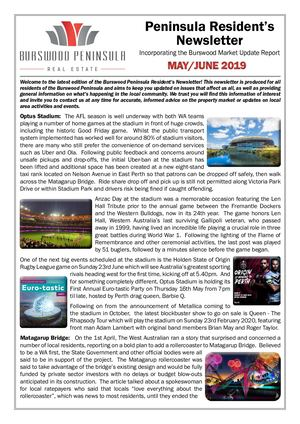 Newsletter May/June 2019