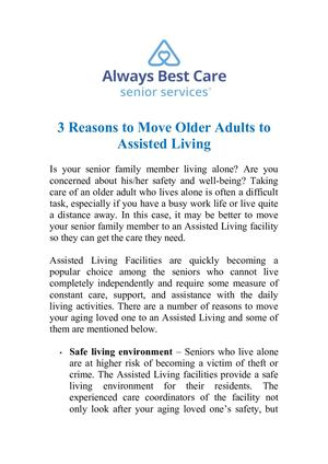 Senior Care Near Me - Always Best Care