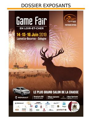 Dossier Exposants - Game Fair 2019