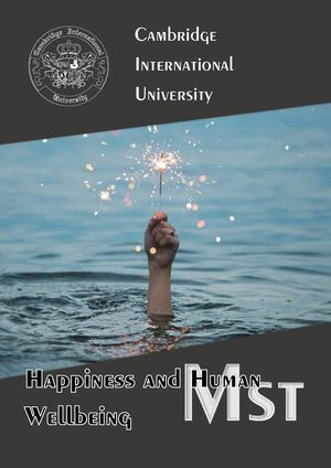 Happiness Human Wellbeing, Mst