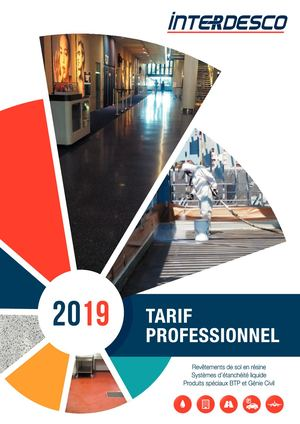Catalogue Tarifs 2019