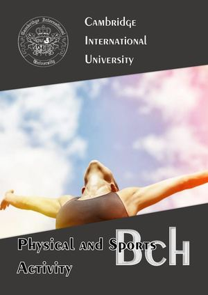 Bachelor of Science in Physical and Sports Activity