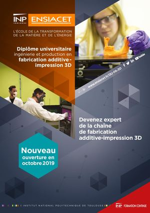 Diplôme universitaire fabrication additive