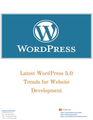 Latest Word Press 5 0 Trends For Website Development