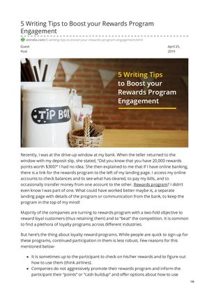 5 Writing Tips To Boost Your Rewards Program Engagement
