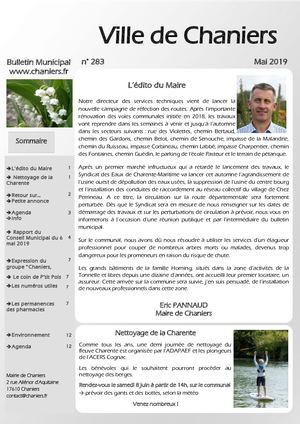 Bulletin Municipal de Chaniers Mai 2019