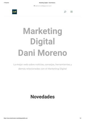 Marketing Digital Dani Moreno
