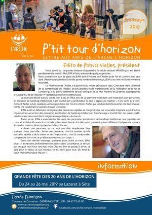 P'tit Tour d'Horizon Printemps 2019