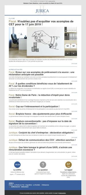 Newsletter Avocat - JURICA