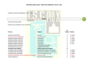 Historial Digital Instituto Comercial PIO X