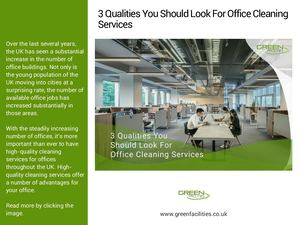 3 Qualities You Should Look For Office Cleaning Services