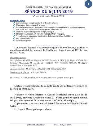 Cr Cm Du 06 Juin 2019 Distribution