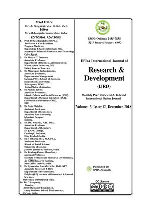 Innovation Management And Effectiveness Of Educational Research In Tertiary Institutions In Cross River State, Nigeria