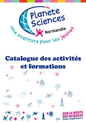 Catalogue Planète Sciences 2019 ACM