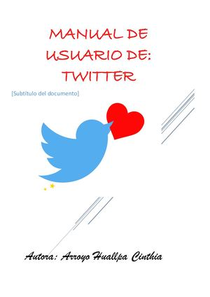 Manual De Usuario Twitter