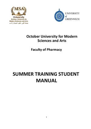 Msa Pharmacy Summer Training Manual Converted (1)