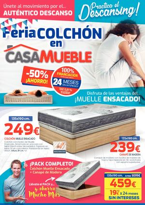 Folleto Casamueble Feria Colchon Julio 2019