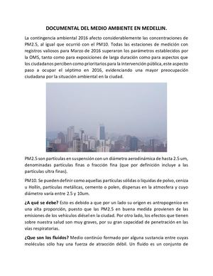 Documental Del Medio Ambiente En Medellin Pdf