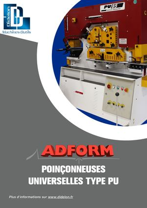 ADFORM Poinconneuse universelle | DIDELON MACHINES OUTILS