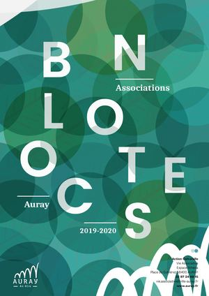 Bloc Notes des associations Auray 2019-2020