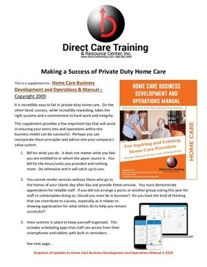 Private Duty Home Care Tips For Making It A Success Supplement