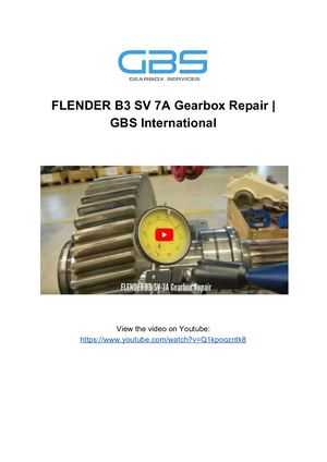 FLENDER B3 SV 7A Gearbox Repair _ GBS International
