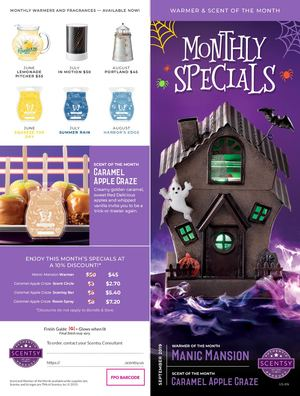 Scent & Warmer Of The Month Sept 2019