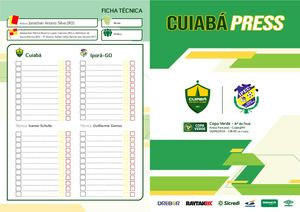 Press Kit: Cuiabá x Iporá-GO - Copa Verde // 14/08/2019
