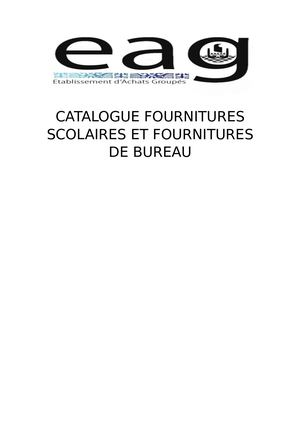 Catalogue Eag