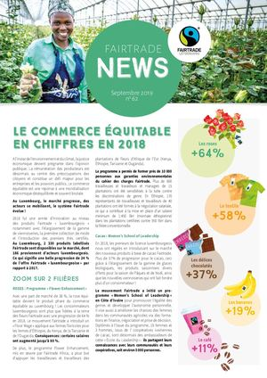 Fairtrade News Septembre 2019 N°62