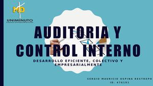 Cartilla auditoria Y Control Interno