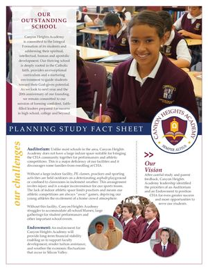 Canyon Heights Academy Fact Sheet