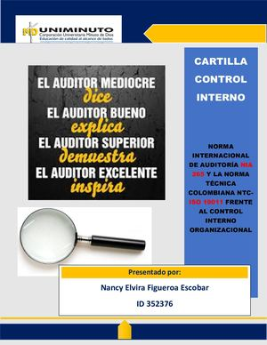 Cartilla Auditoria Control Interno