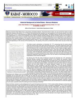Calaméo - U S EMBASSY DOCUMENT ON: UNITED STATES & MOROCCO'S