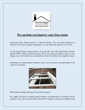 We Can Help You Improve Your Essex Home