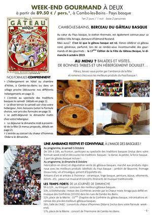 Weekend Gourmand Fête Du Gâteau Basque 2019 Site Internet