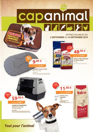 Promotions d'automne Cap Animal Moulins