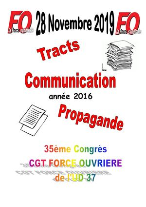 Tracts Et Communication 2016