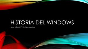 Historia Del Windows