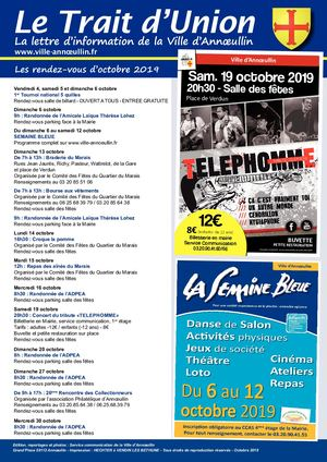 Trait D'union Octobre 2019