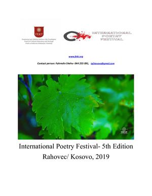 International Poetry Festival 2019t