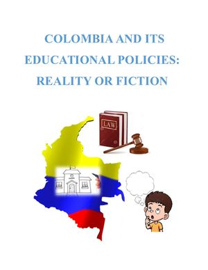 Educational Policies in Colombia
